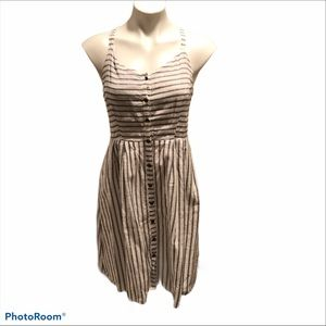 Old Navy Striped Button Front Dress